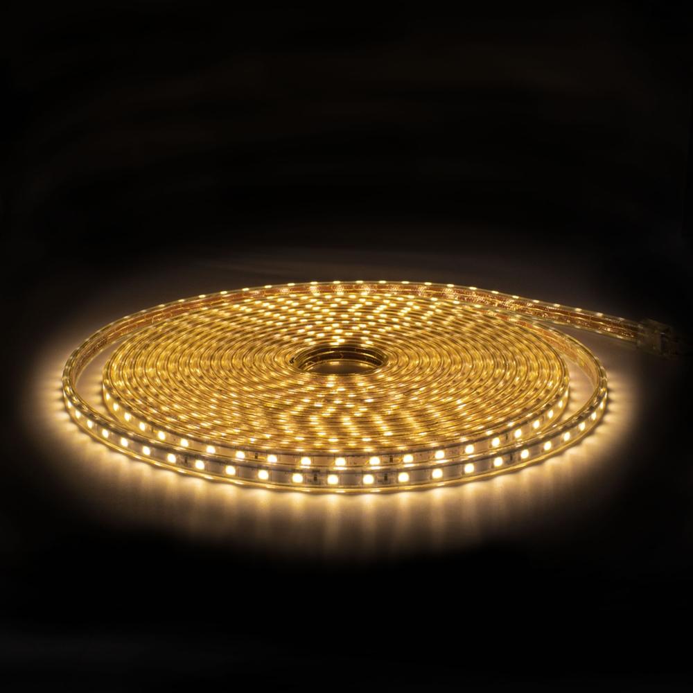 LED Strip 220-240V - Dimbaar - 10 meter rol - 3000K warm wit - vooraanzicht - 60 LEDS per meter