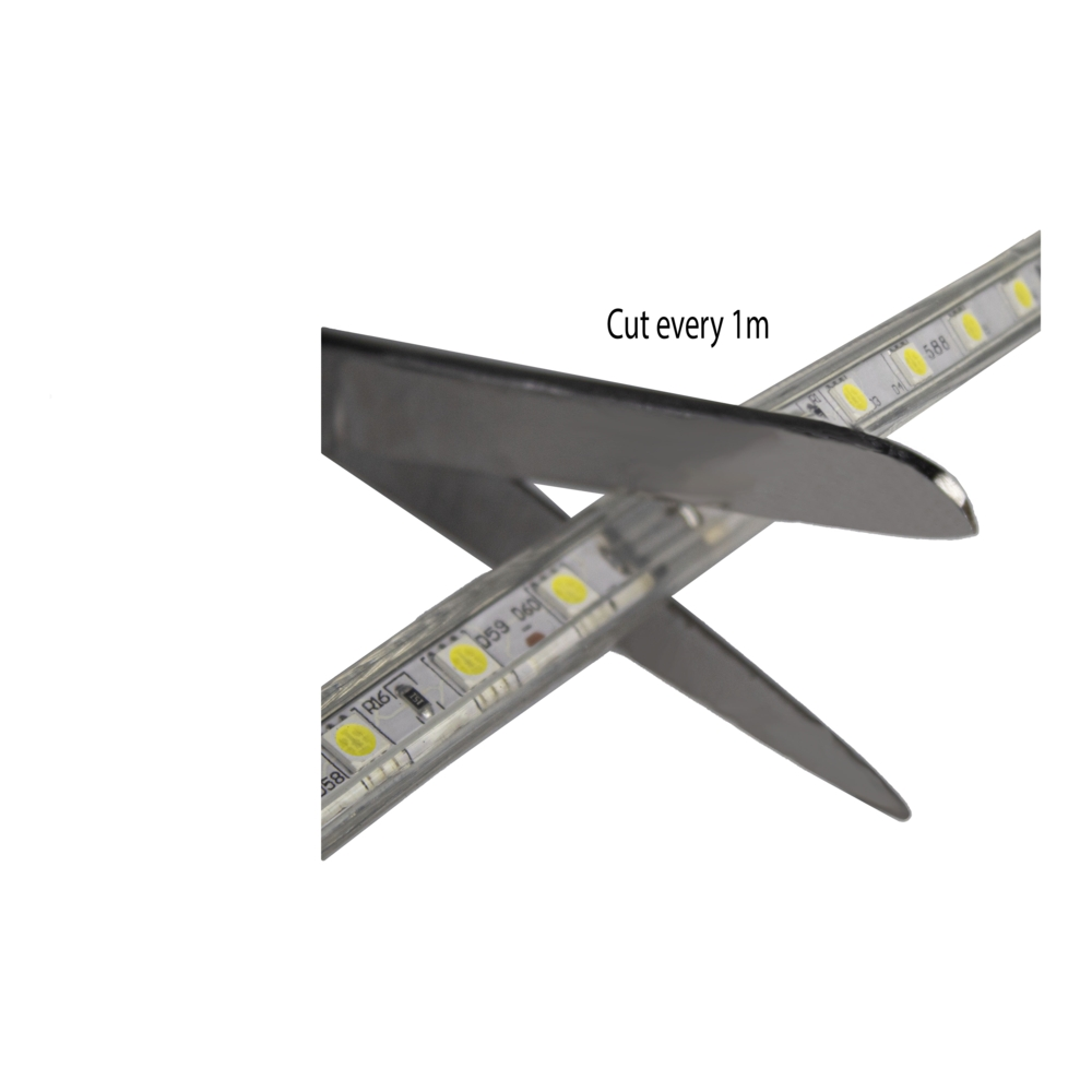 LED Strip 220-240V - Dimbaar - inkorten - per meter knippen
