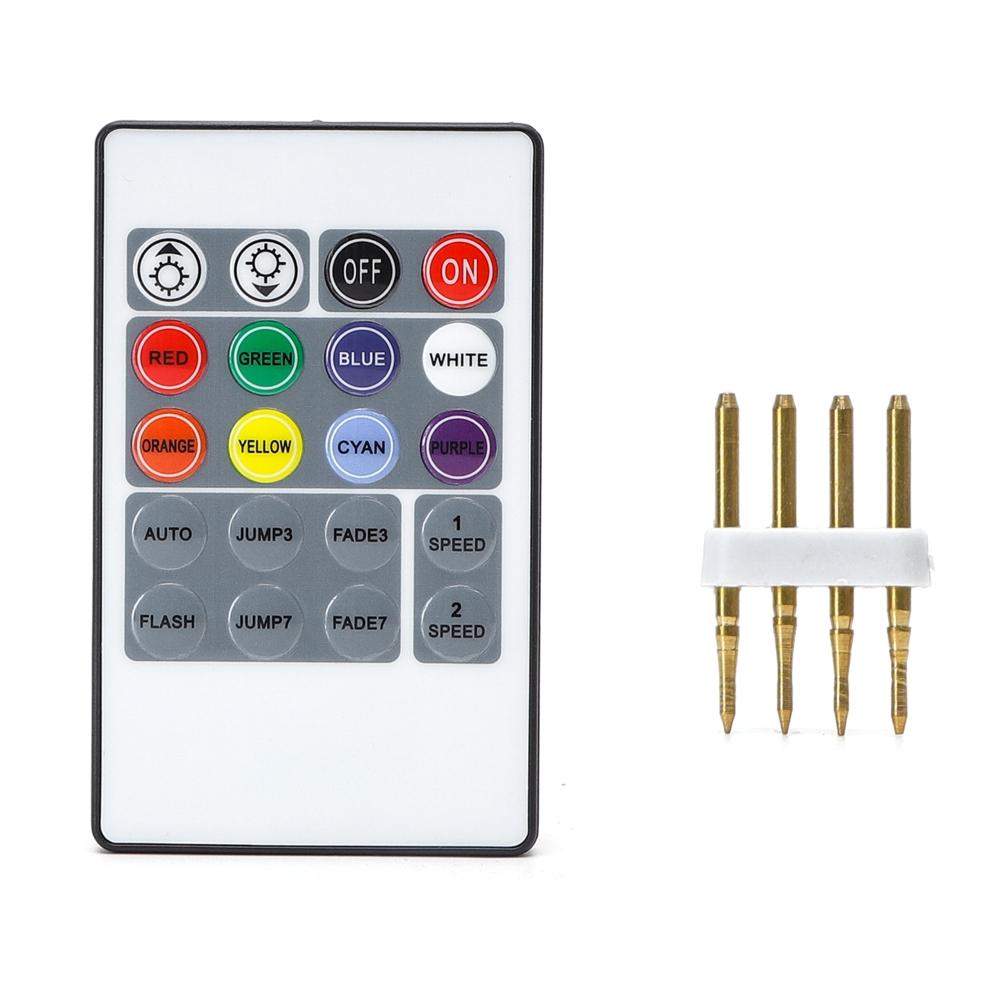 LED Strip 220-240V adapter voor RGB LED Strips - dimbaar - afstandsbediening