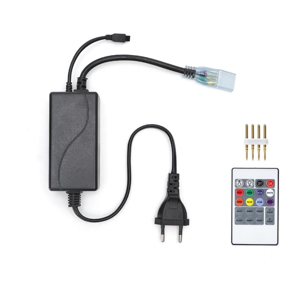 LED Strip 220-240V adapter voor RGB LED Strips - dimbaar - kleuren instelbaar