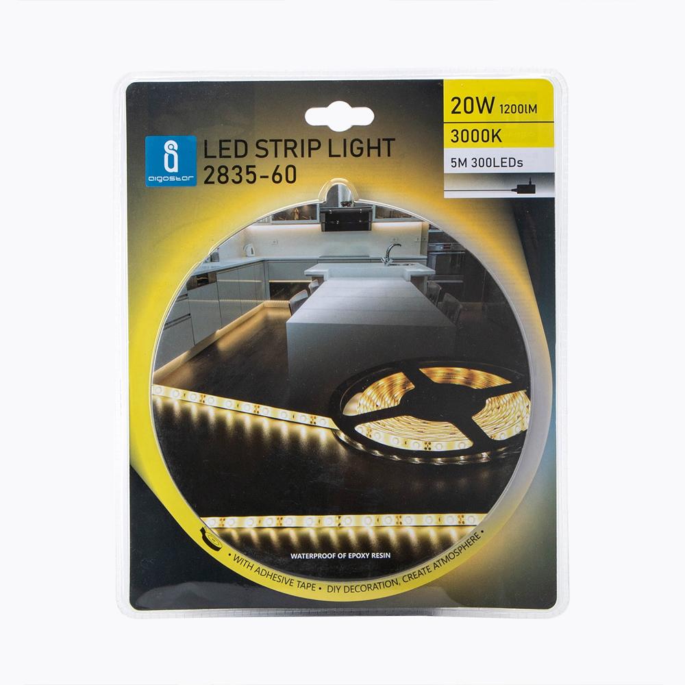 LED strip bundel 3000K warm wit complete set - voorkant verpakking