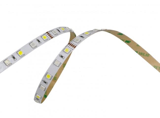 LED Strip RGBW + RGB+W - dimbaar - 5 meter rol - met kleefstrip - plakstrip