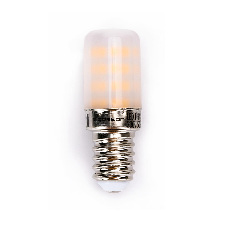 Koelkastlampje T18 kleine E14 fitting 3000K 3 watt vooraanzicht