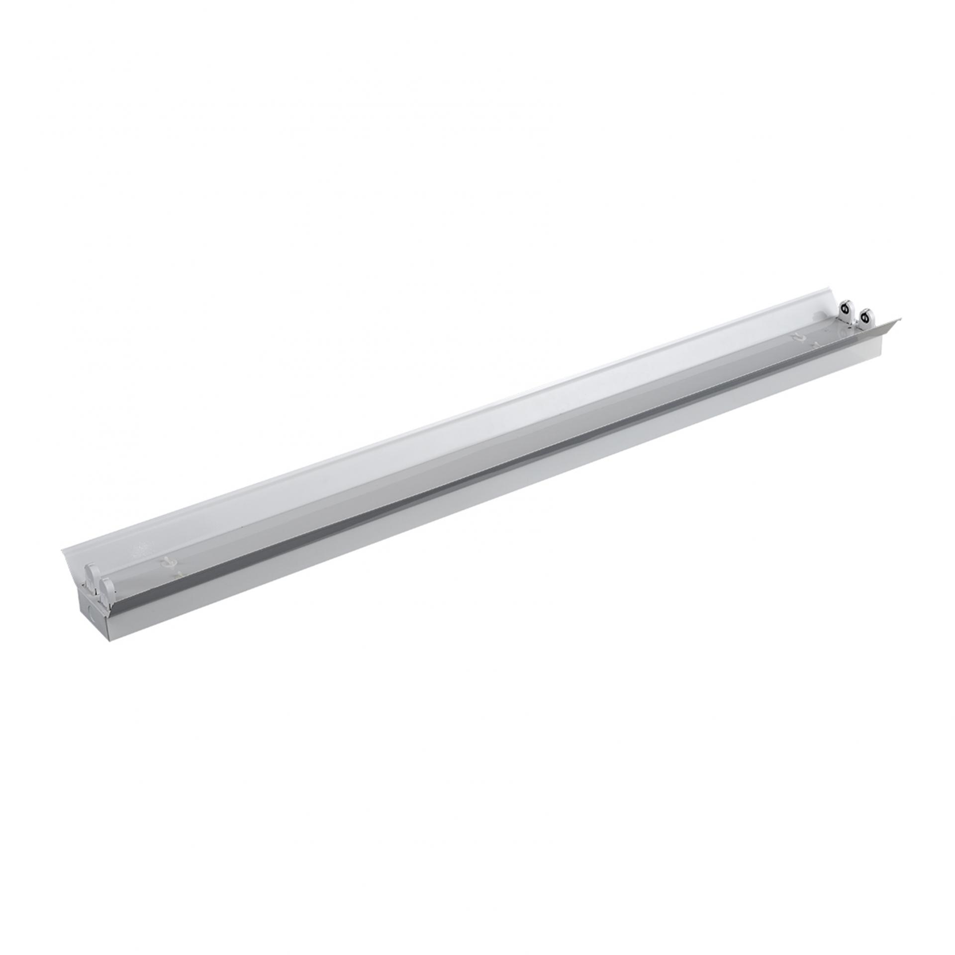 LED T8 TL Trog armatuur met reflector 120cm en 150cm - G13 - IP22 niet waterdicht