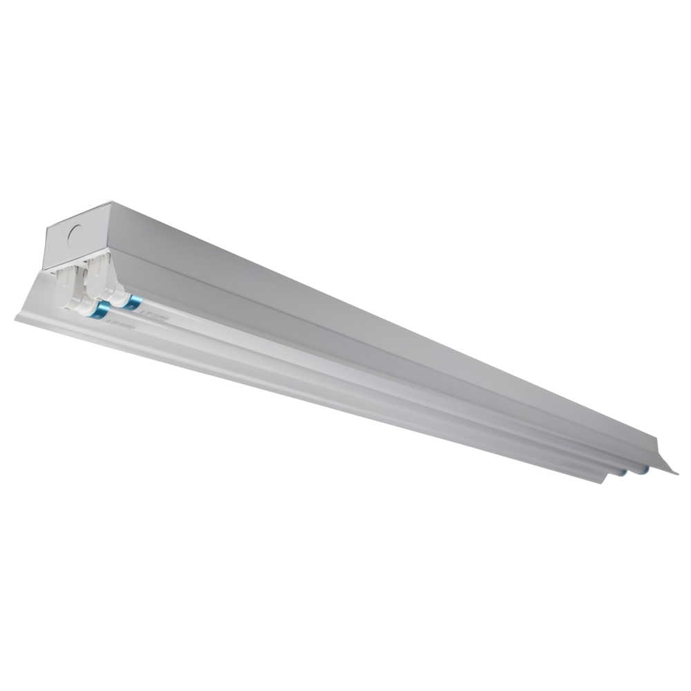 LED TL armatuur - bak - met reflector kap - 120cm - 150cm - trog armatuur T8 - IP22 - incl. LED TL buizen - vooraanzicht