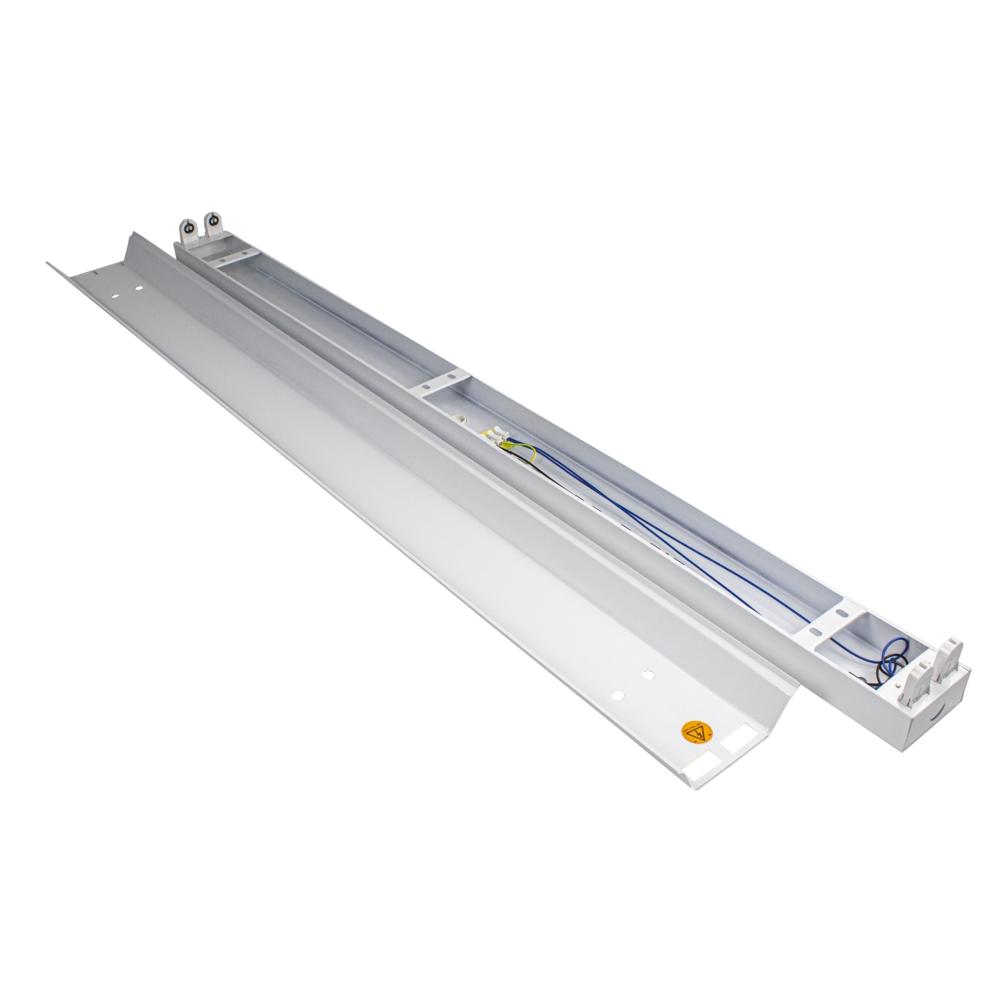 LED TL armatuur - bak - met reflector kap - 120cm - 150cm - trog armatuur T8 - IP22 - voor 2x led tl buizen - onderdelen