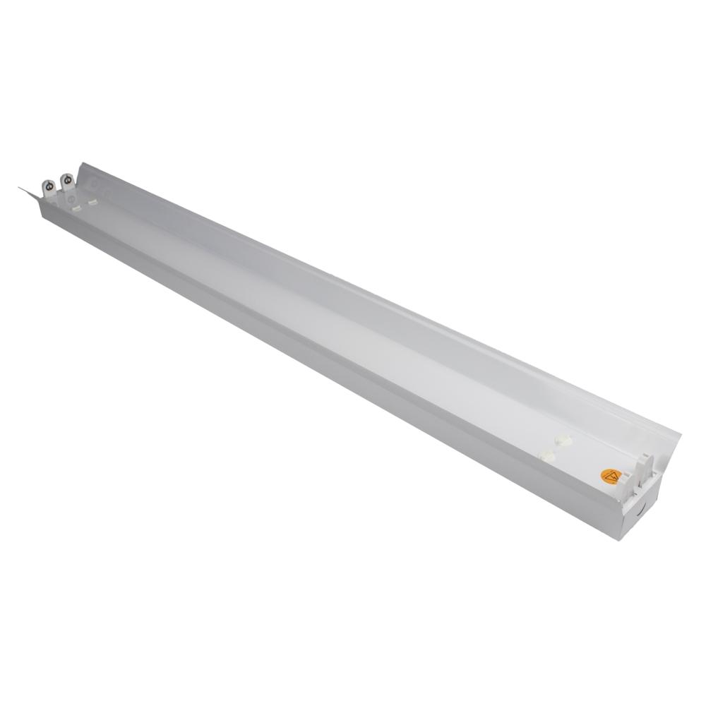 LED TL armatuur - bak - met reflector kap - 120cm - 150cm - trog armatuur T8 - IP22 - voor 2x led tl buizen - voorkant