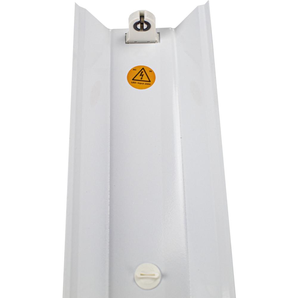 LED TL armatuur - enkel - met reflector - TROG armatuur - 120cm en 150cm - T8 - voedingskant