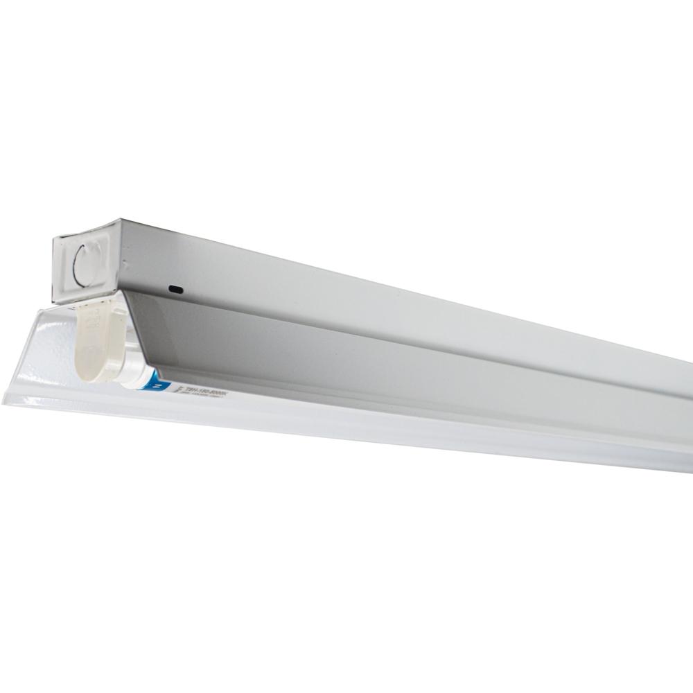 LED TL armatuur - enkel - met reflector - TROG armatuur - 120cm en 150cm - T8 - vooraanzicht met buis