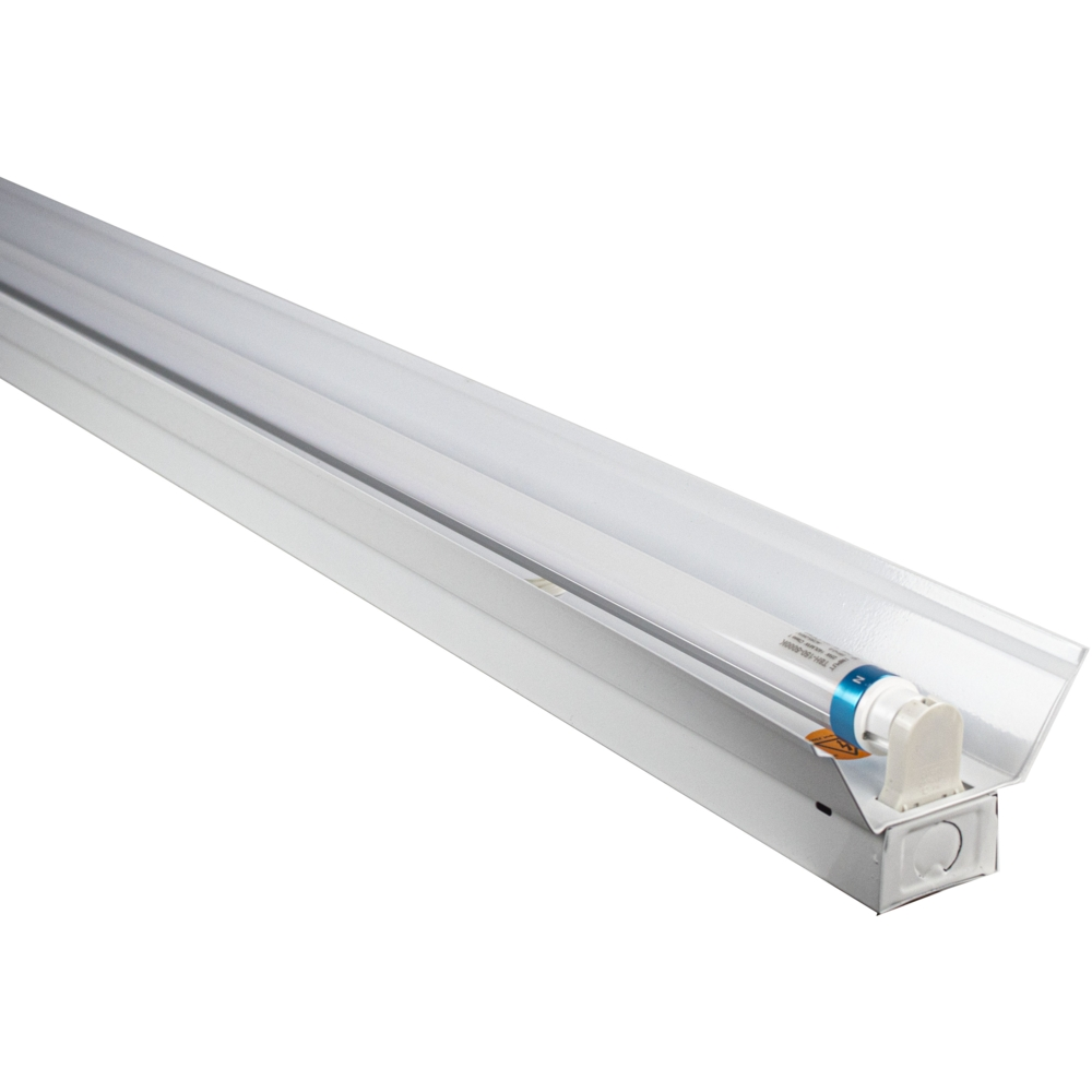 LED TL armatuur - enkel - met reflector - TROG armatuur - 120cm en 150cm - T8 - zijaanzicht
