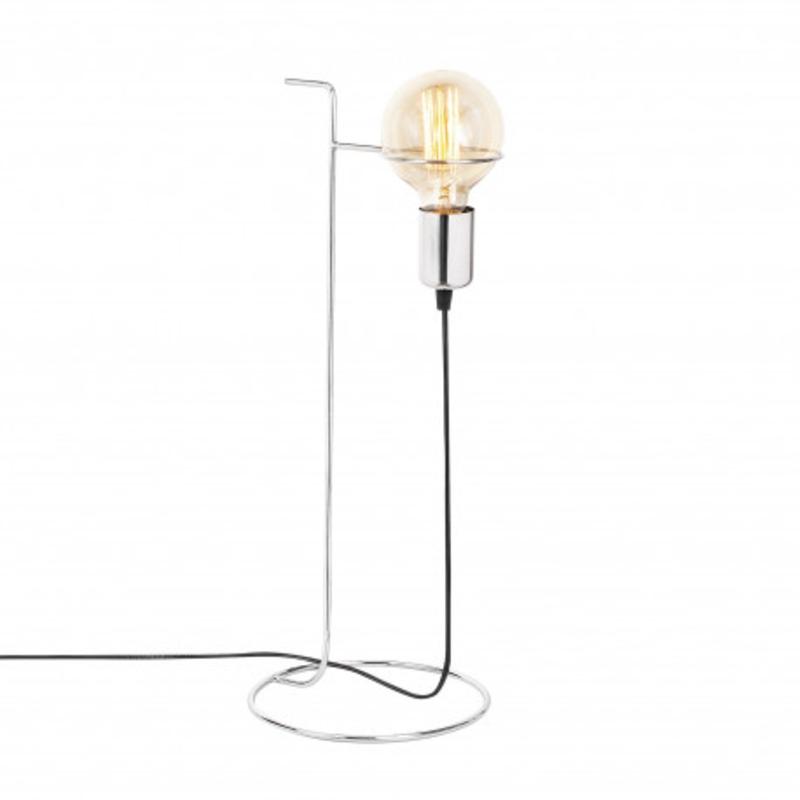 Aluminium LED tafellamp op poot E27