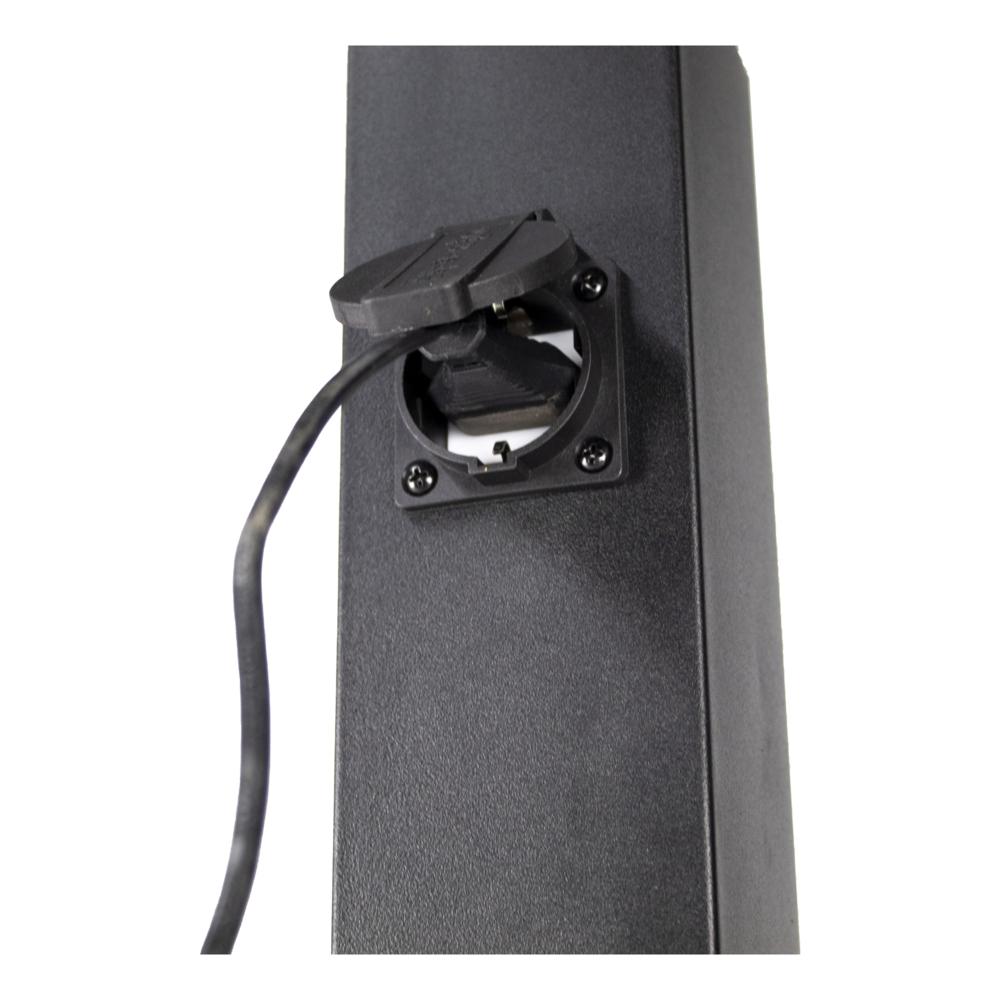 LED Tuinpaal incl. stopcontact - Staande buitenlamp stopcontact - E27 - dimbaar - zwart - 65cm