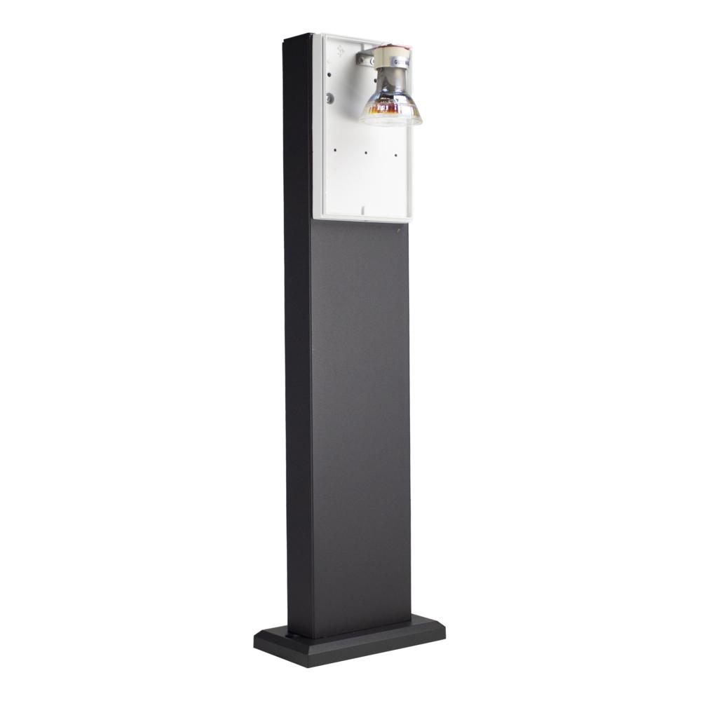 LED Tuinpaal - staande buitenlamp - GU10 fitting - 50cm - zwart - IP44 - binnenkant