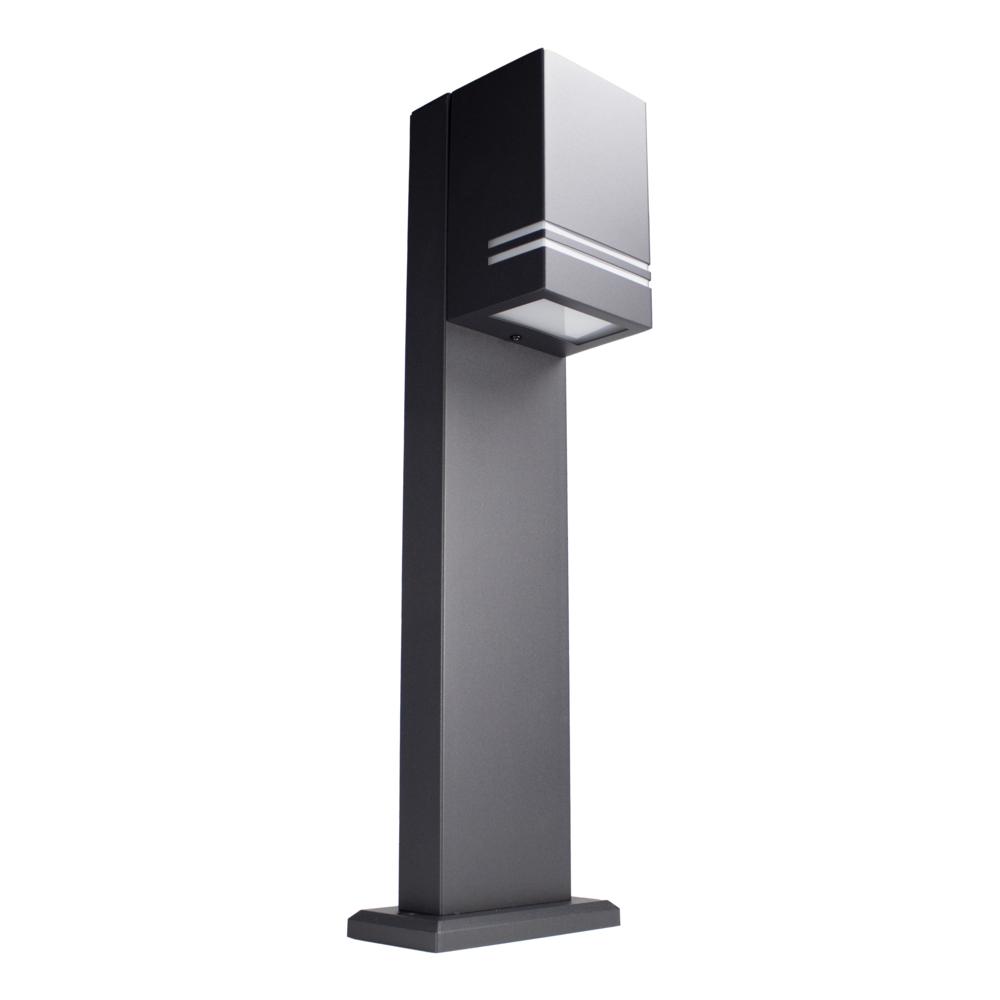 LED Tuinpaal - staande buitenlamp - GU10 fitting - 50cm - zwart - IP44 - onderaanzicht
