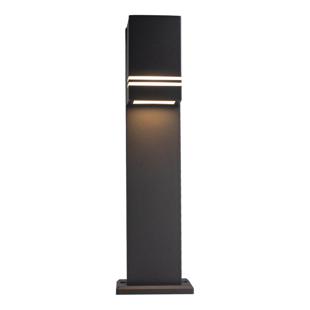 LED Tuinpaal - staande buitenlamp - GU10 fitting - 50cm - zwart - IP44 - vooraanzicht