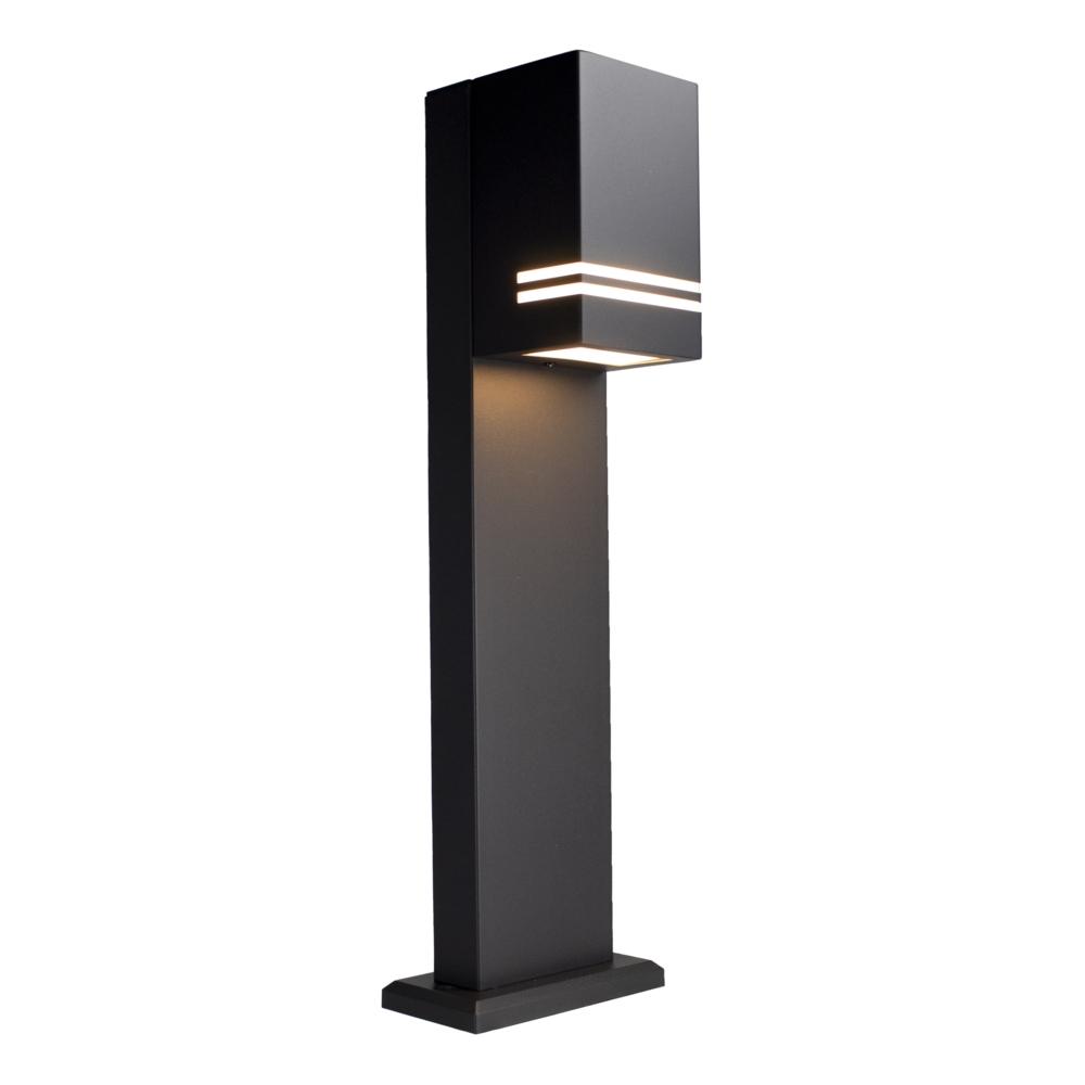 LED Tuinpaal - staande buitenlamp - GU10 fitting - 50cm - zwart - IP44 - zijaanzicht