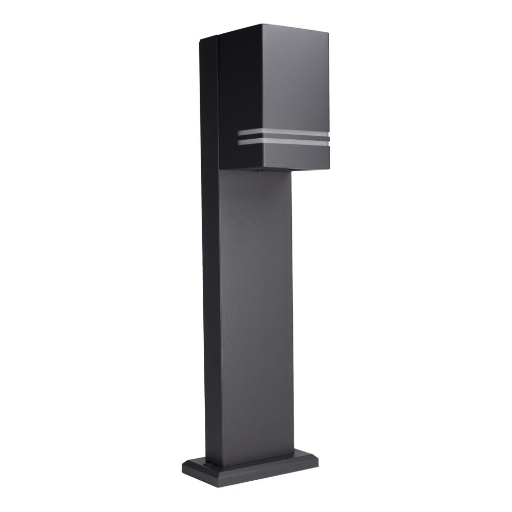 LED Tuinpaal - staande buitenlamp - GU10 fitting - 50cm - zwart - IP44 - zijkant