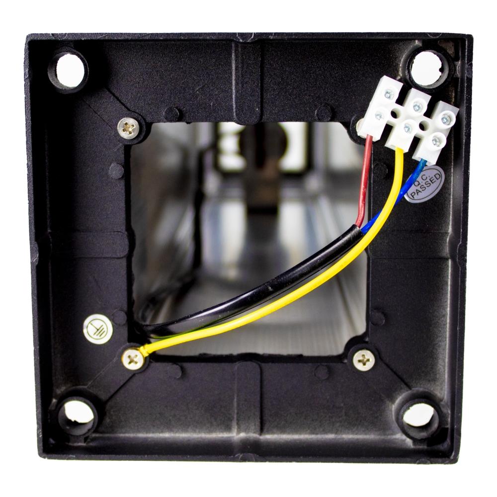 LED Tuinpaal zwart - vierkant - E27 fitting - 61cm - modern - dimbaar - onderkant