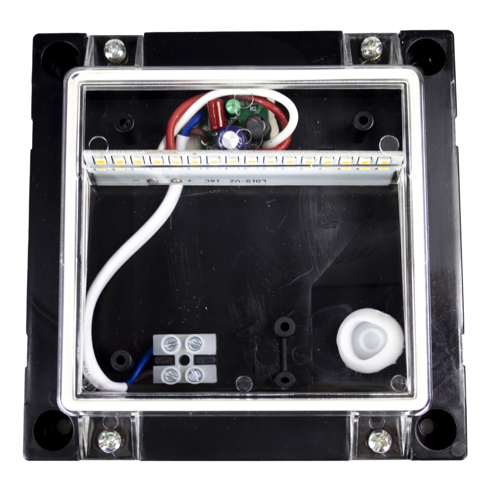 LED Vierkante wand - trap - voetpad verlichting - 2 watt - 3000K warm wit - zwart - binnenkant