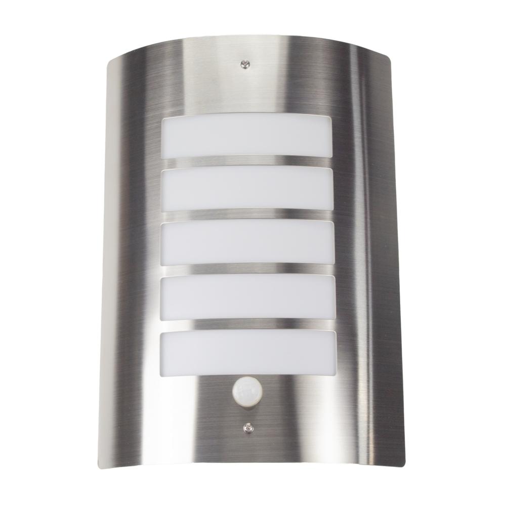 Wandlamp met sensor - RVS - E27 fitting - IP44 waterdicht