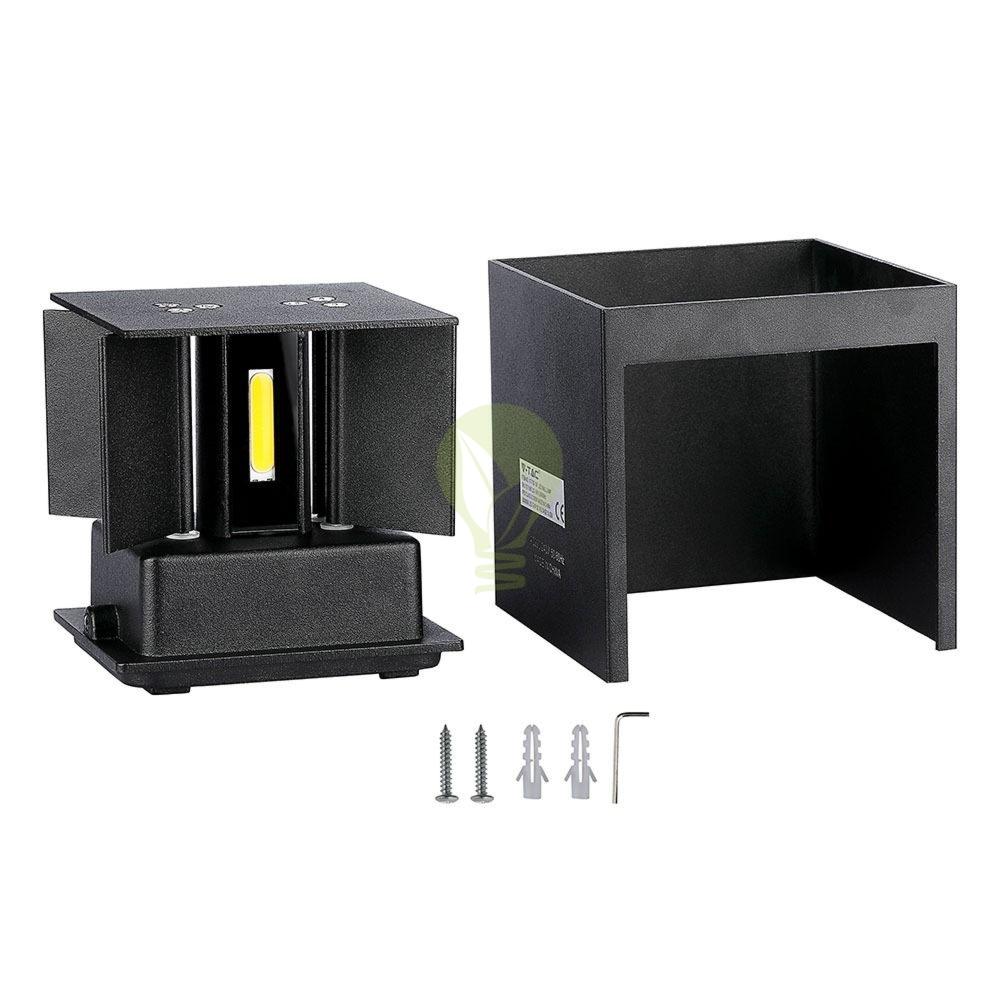 LED buiten Wandlamp 6 Watt 3000K Up & down IP65 zwart - onderdelen