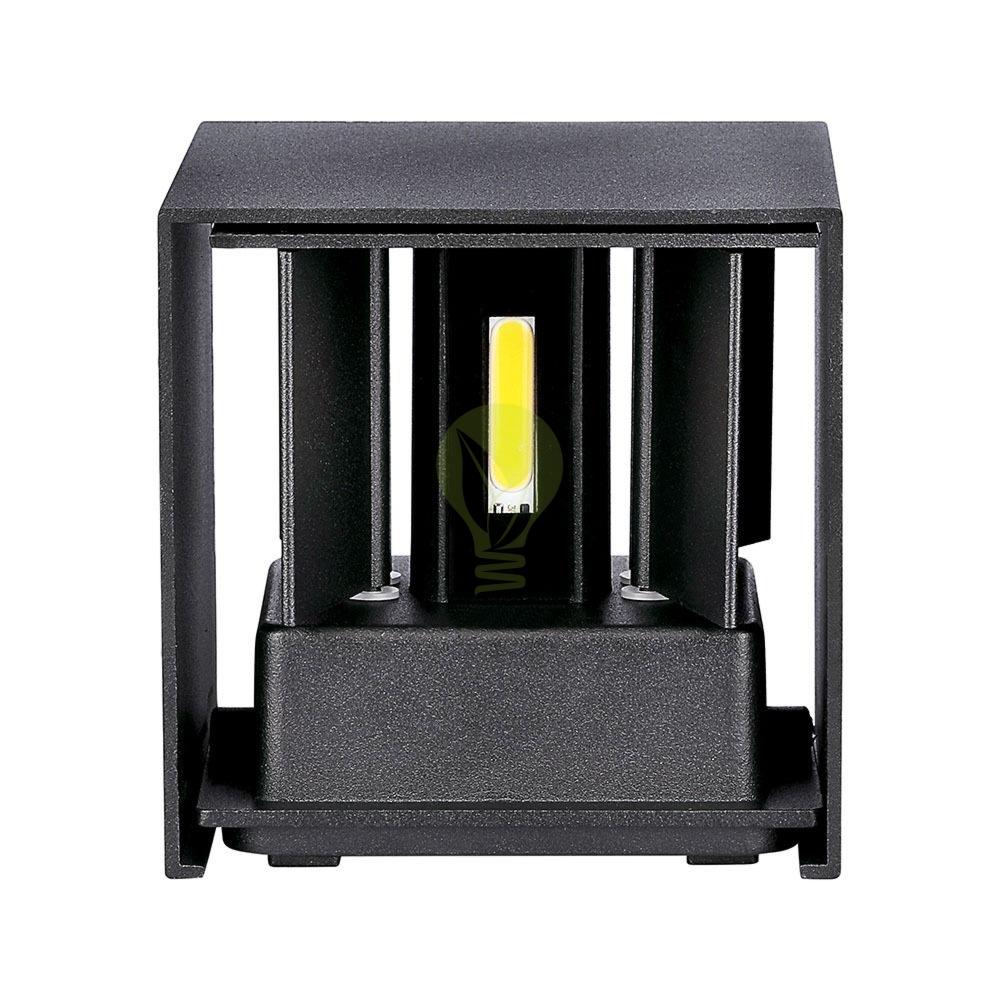 LED buiten Wandlamp 6 Watt 3000K Up & down IP65 zwart - onderkant