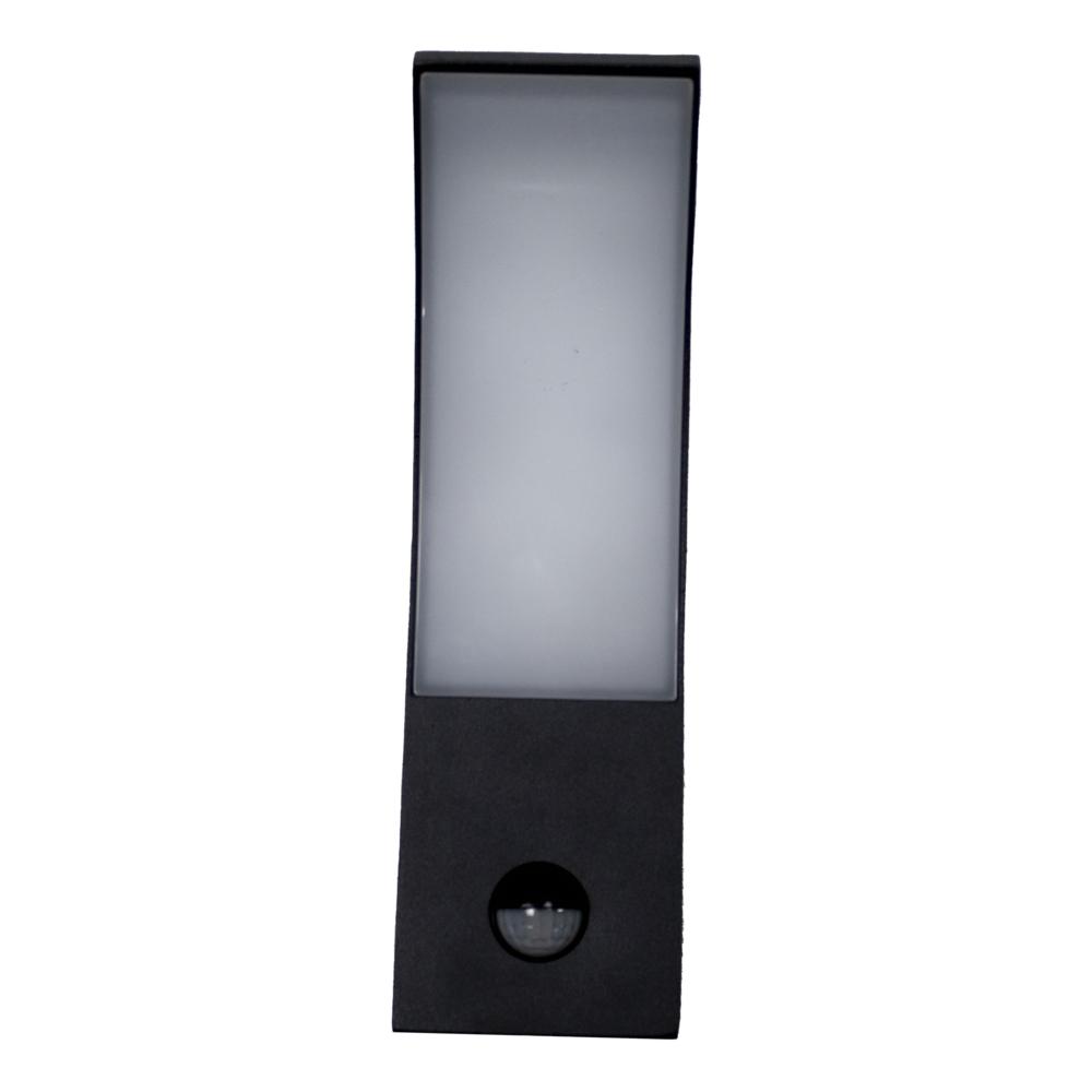LED Wandlamp met sensor - modern - bewegingssensor - 4000K naturel wit - 9 watt - waterdicht - curved - vooraanzicht