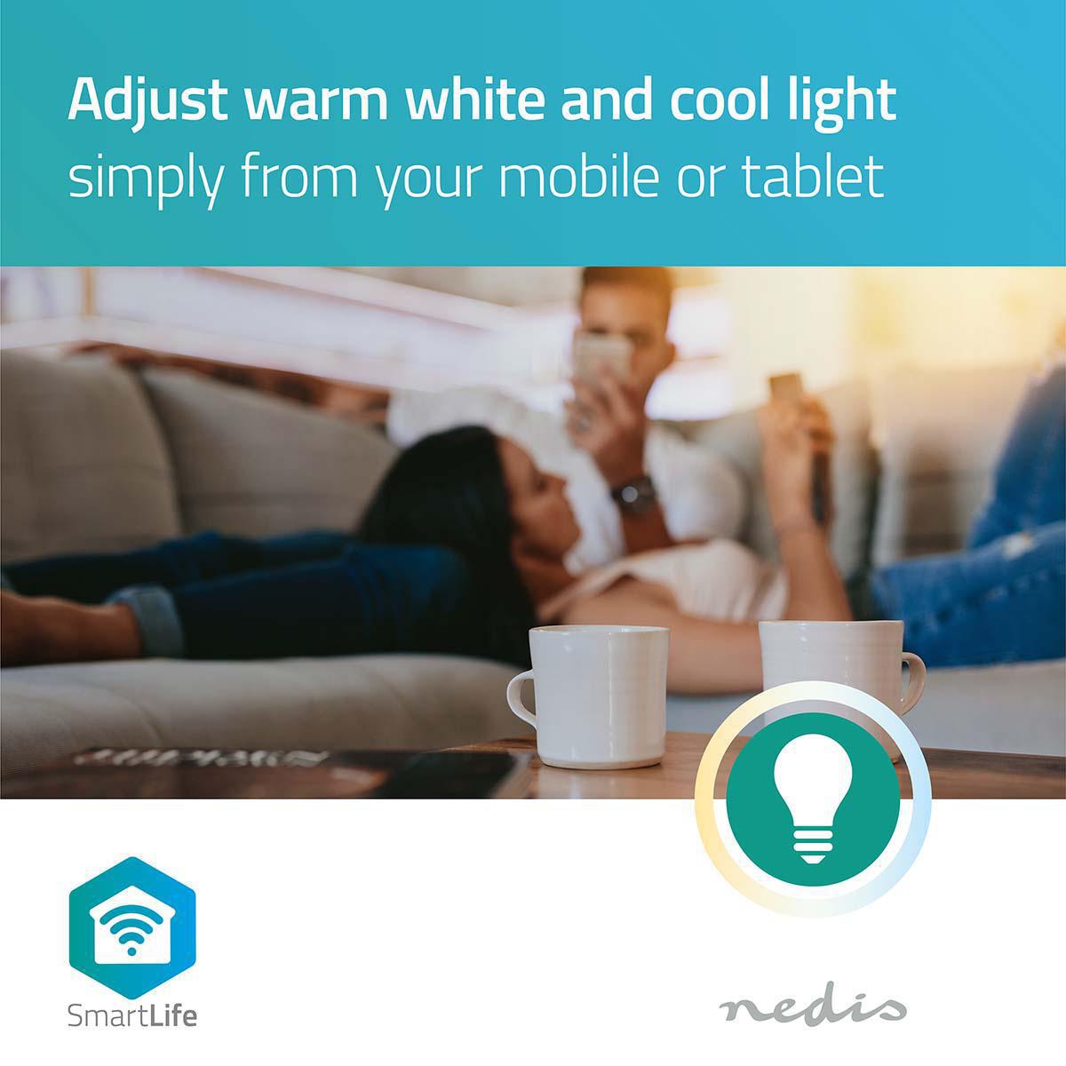 LED WiFi Smart Gu10 spot - 2700K - 6500K - Dim to warm