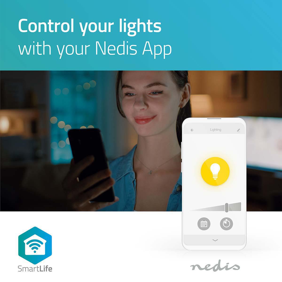 LED WiFi Smart Gu10 spot - 2700K - 6500K - Dimbaar - Warm naar koud wit - App bediening 2
