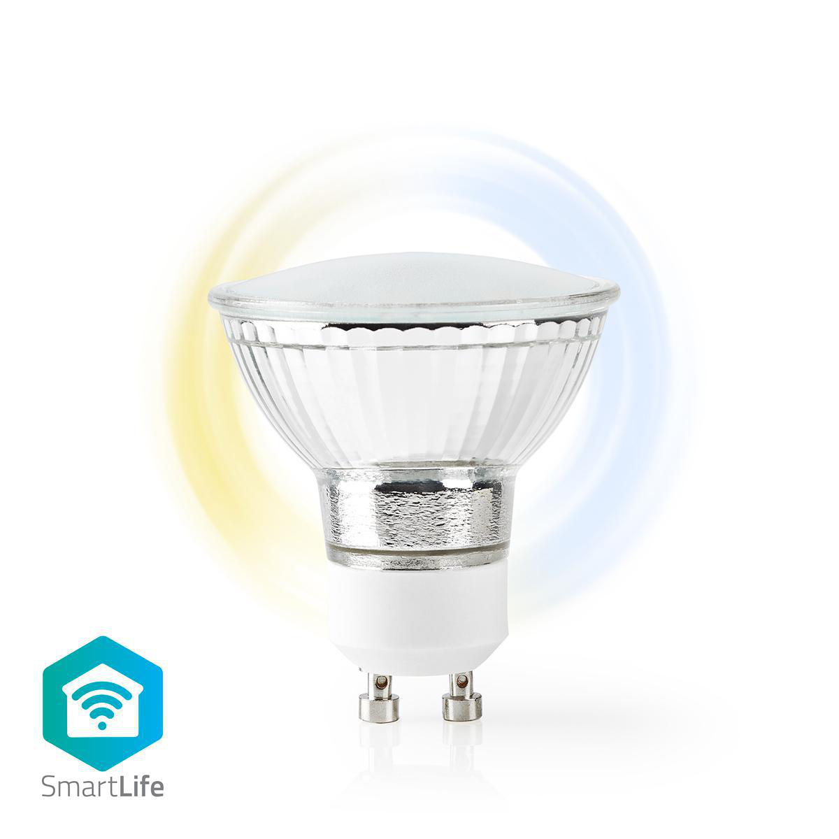 LED WiFi Smart Gu10 spot - 2700K - 6500K - Dimbaar - Warm naar koud wit - Nedis
