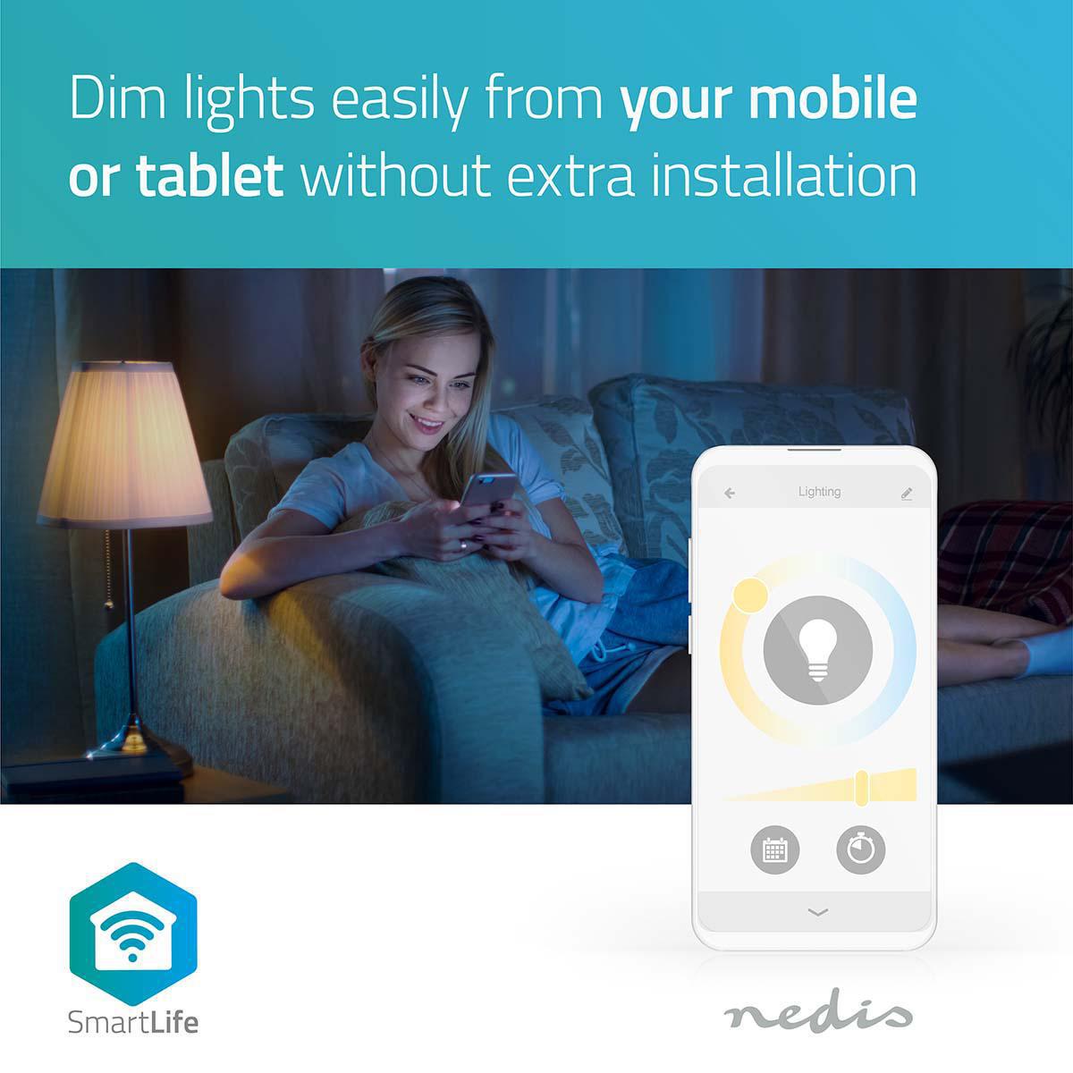 LED WiFi Smart Gu10 spot - 2700K - 6500K - Dimbaar - Warm naar koud wit