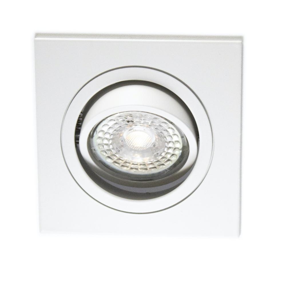 LED Inbouw spot wit - vierkant - dimbaar - 4000K - vooraanzicht