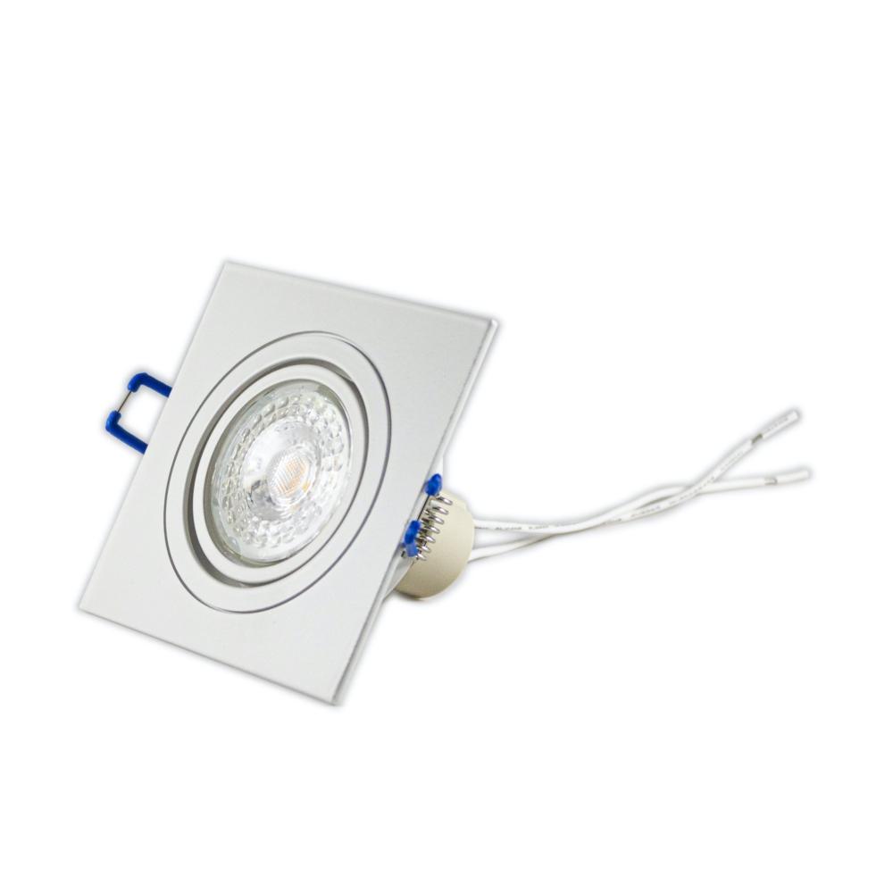 LED Inbouw spot wit - vierkant - dimbaar - 4000K - zijaanzicht