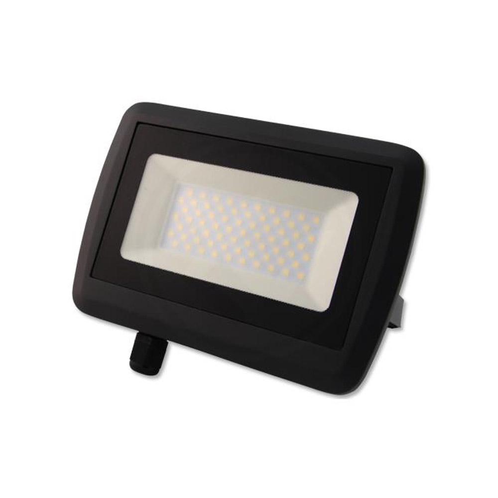 LED bouwlamp 4500 K - naturel wit 50 Watt - zijaanzicht