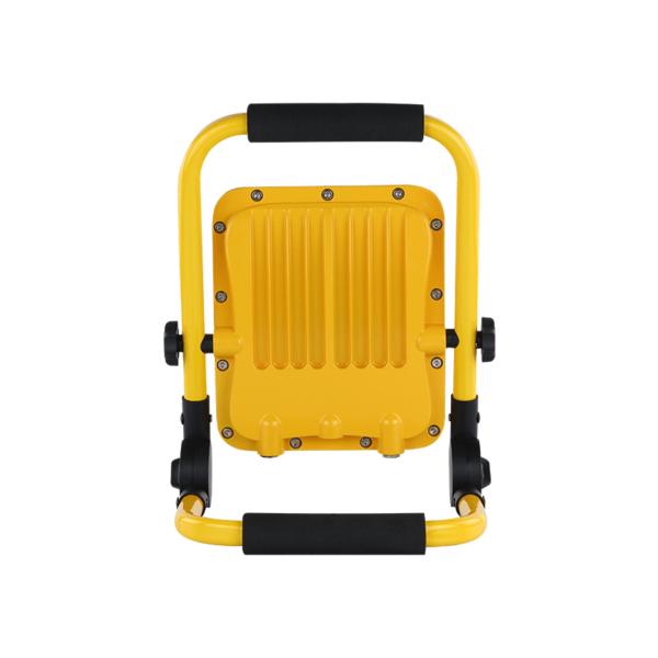 LED bouwlamp inclusief accu 30 Watt 6000K - daglicht wit - achterkant bouwlamp