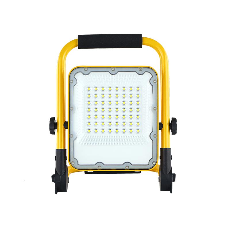 LED bouwlamp inclusief accu 30 Watt 6000K - daglicht wit - voorkant bouwlamp