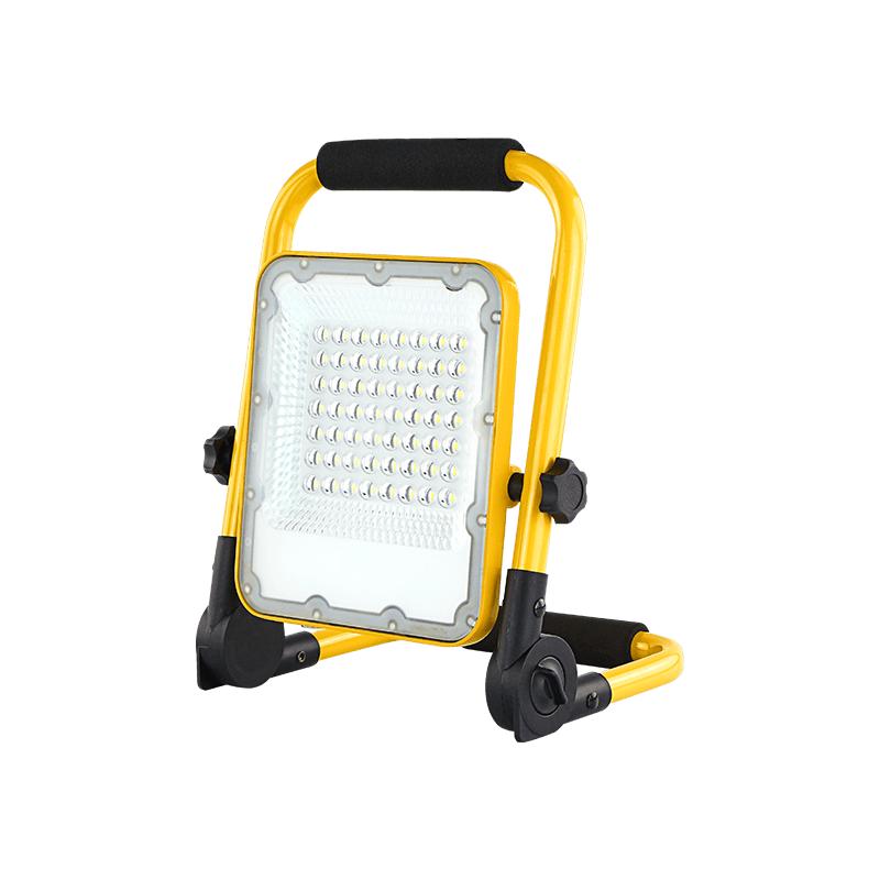 LED bouwlamp inclusief accu 30 Watt 6000K - daglicht wit - zijaanzicht lamp