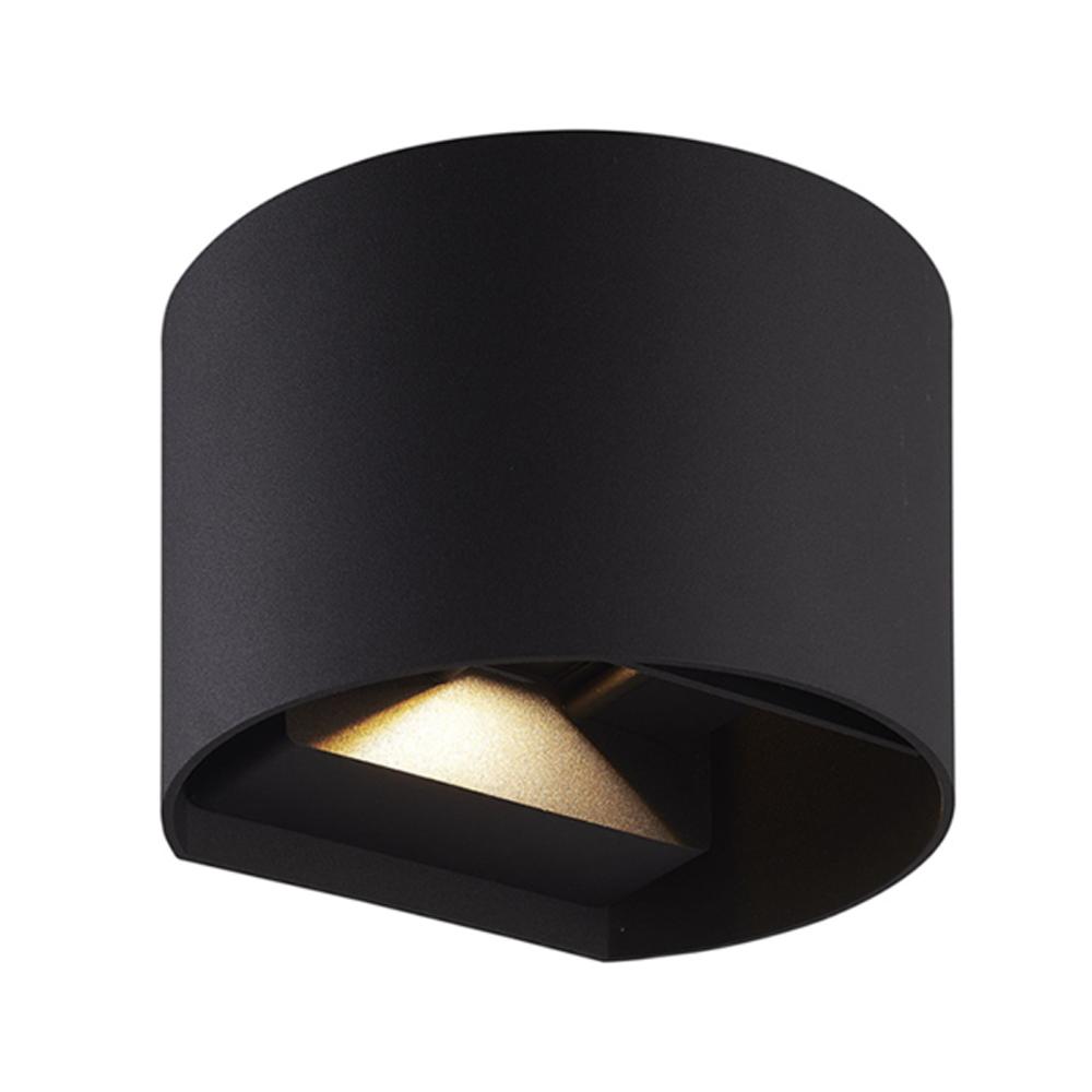LED wandlamp buiten zwart 6Watt 3000K - warm wit - onderaanzicht