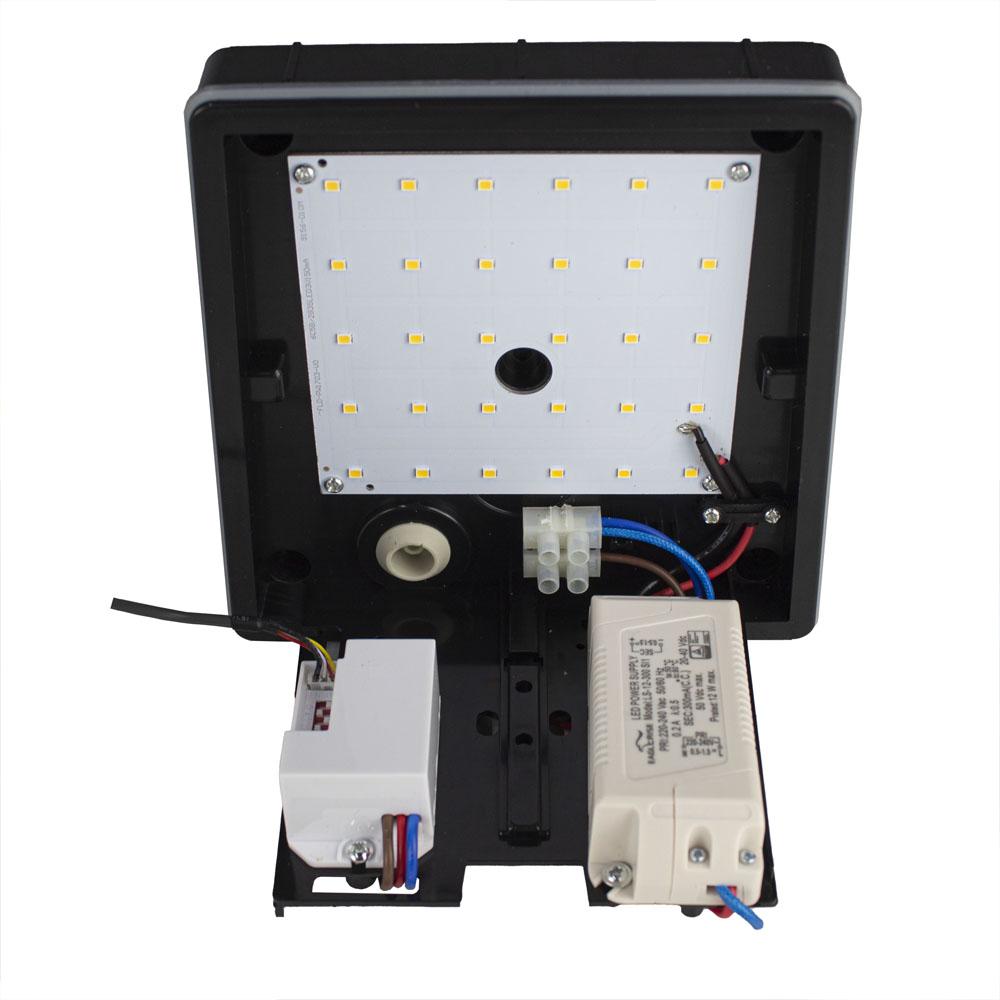 Buiten wandlamp met sensor IP54 zwart wit - bekabeling
