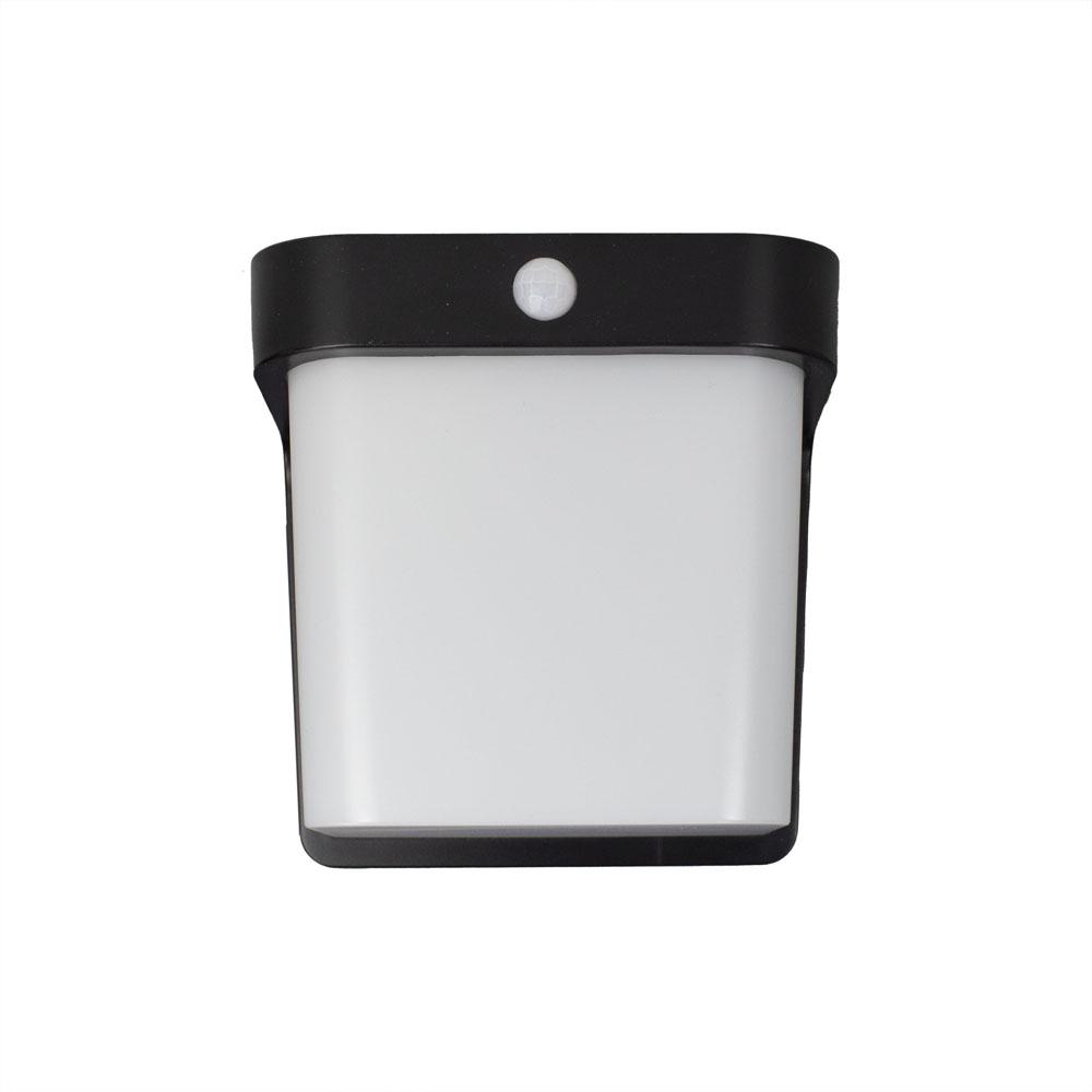Buiten wandlamp met sensor IP54 zwart wit - voorkant