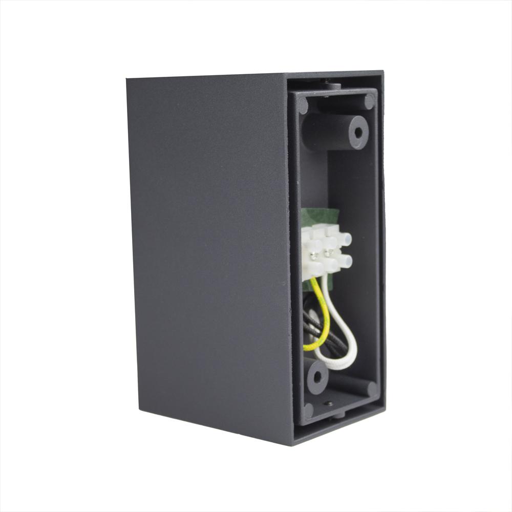 LED buitenspot Antraciet - 2 keer GU10 fitting - IP44 - aansluiting