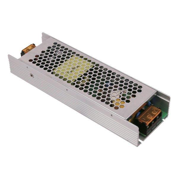 LED dimbare transformator-75 Watt- 12 volt-IP20-product foto-grijs-aluminium