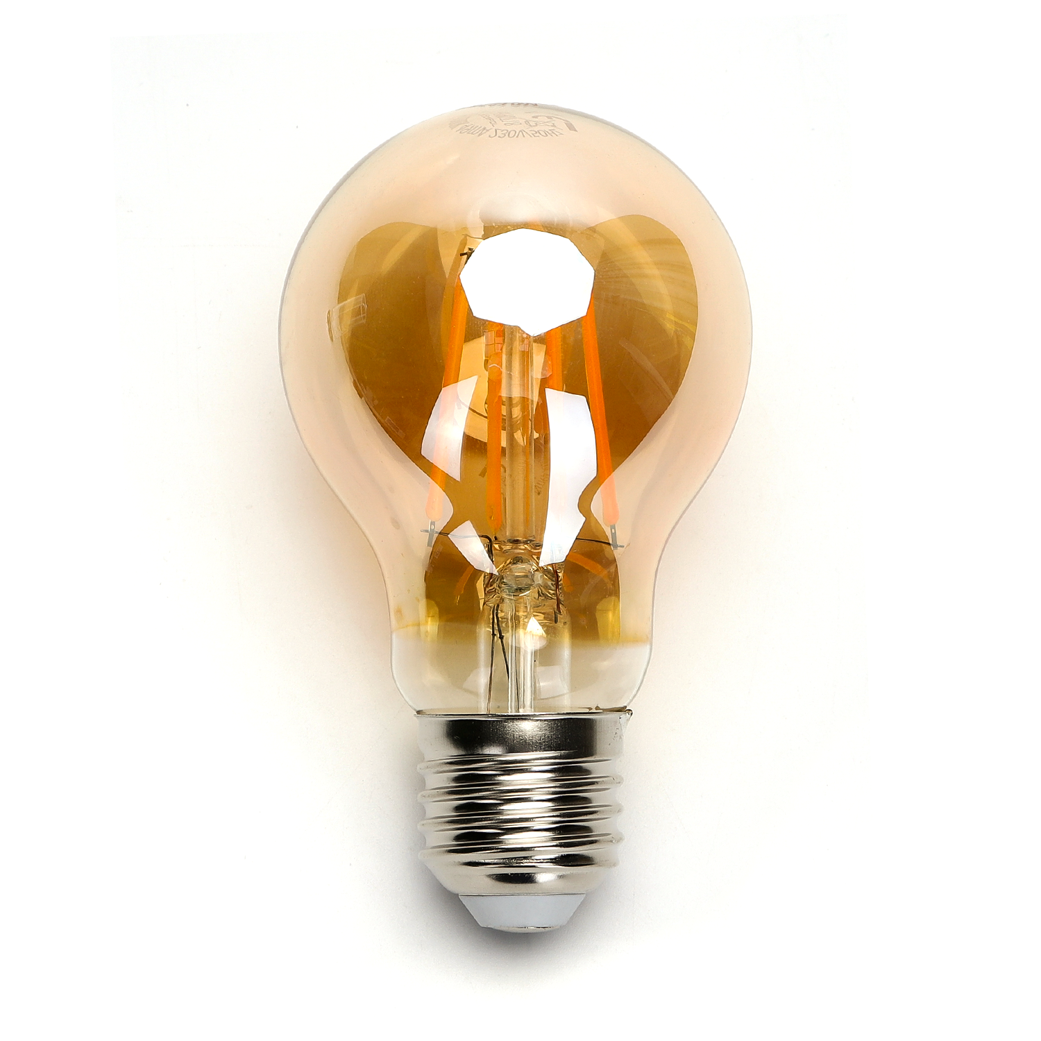 LED amber lamp filament 6 Watt grote fitting E27 2200K warm wit - lamp