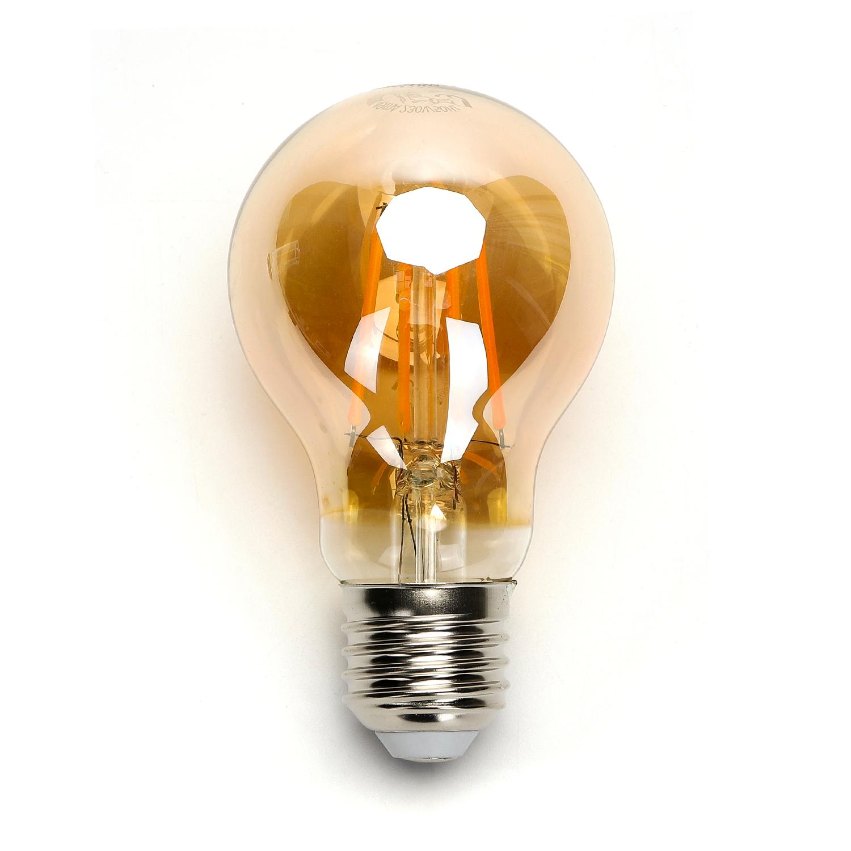 LED amber lamp filament 8 Watt grote fitting E27 2200K warm wit - lamp