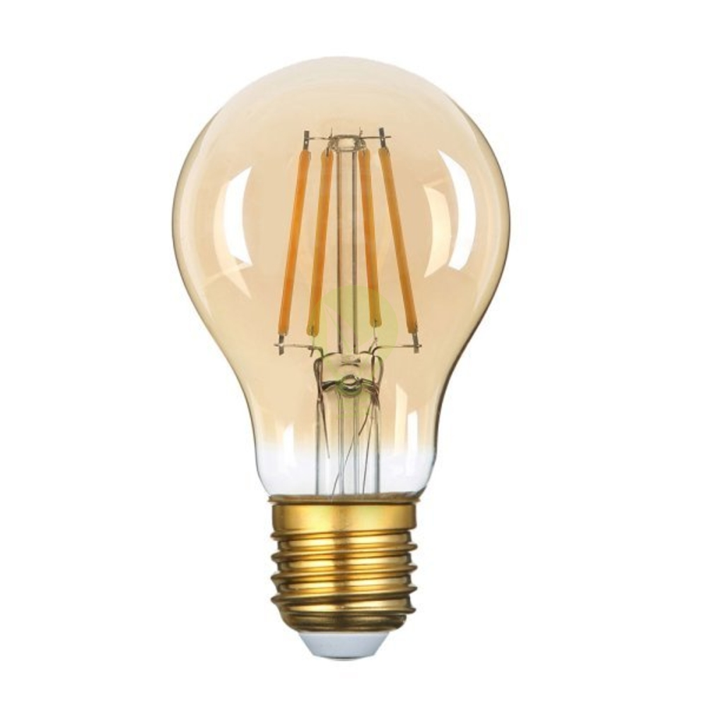 LED dimbare filament lamp A60 grote fitting E27 8 Watt 2500K Warm wit