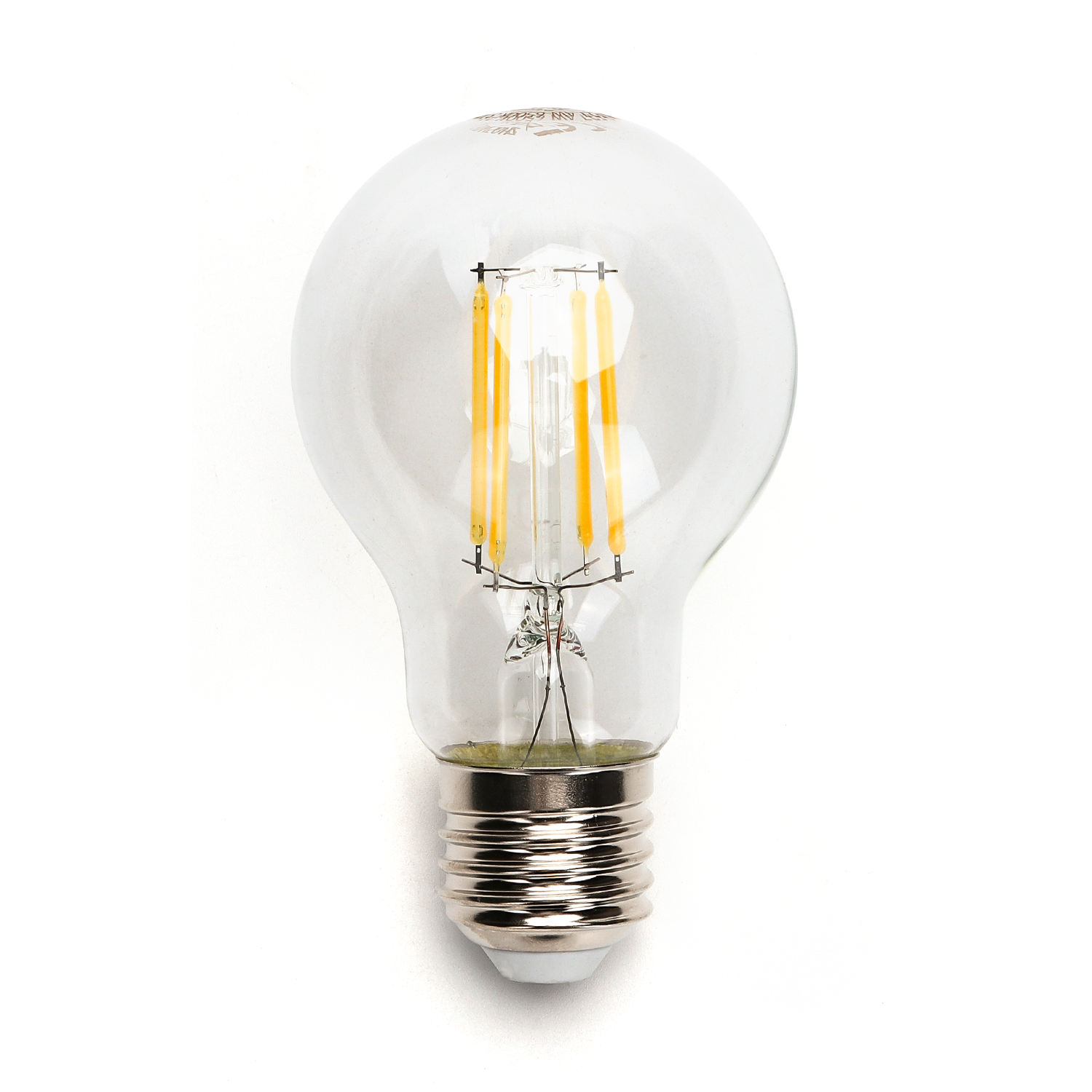LED Filament peer lamp 4 Watt grote fitting E27 A60 2700K Warm wit - lamp