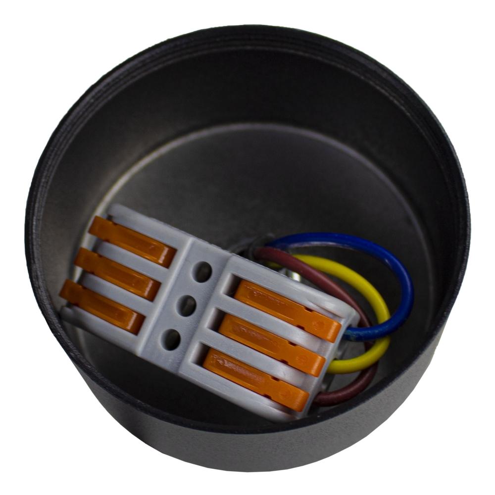 Hanglamp zwart met GU10 fitting - aansluiting