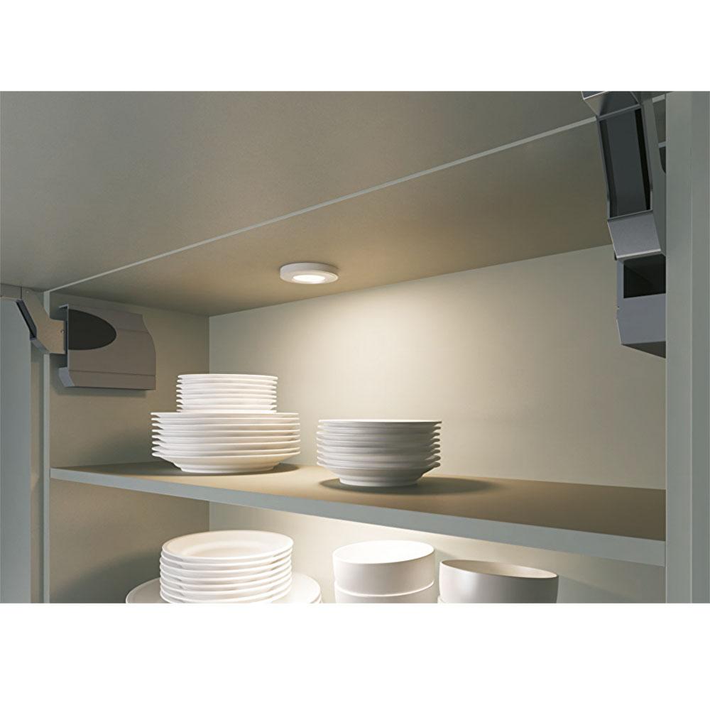 LED opbouw/inbouw spot dimbaar chroom 2700K warm wit - sfeerfoto