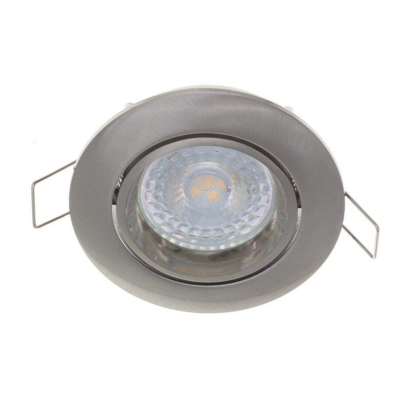 LED inbouw spot FS02-silver - dimbaar - kantelbaar - zonder klemveer