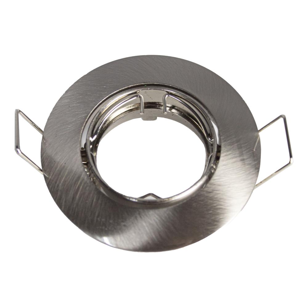 Inbouwspot rond rvs 58 mm zilver - armatuur